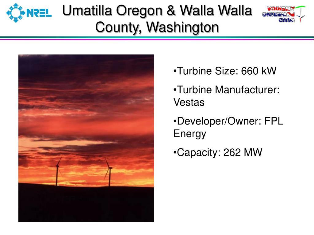 Umatilla Oregon & Walla Walla County, Washington