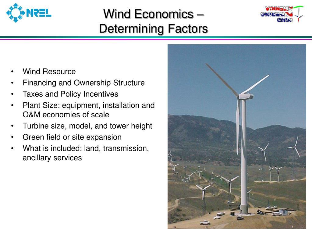 Wind Economics –