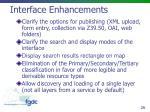 interface enhancements