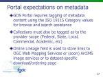 portal expectations on metadata