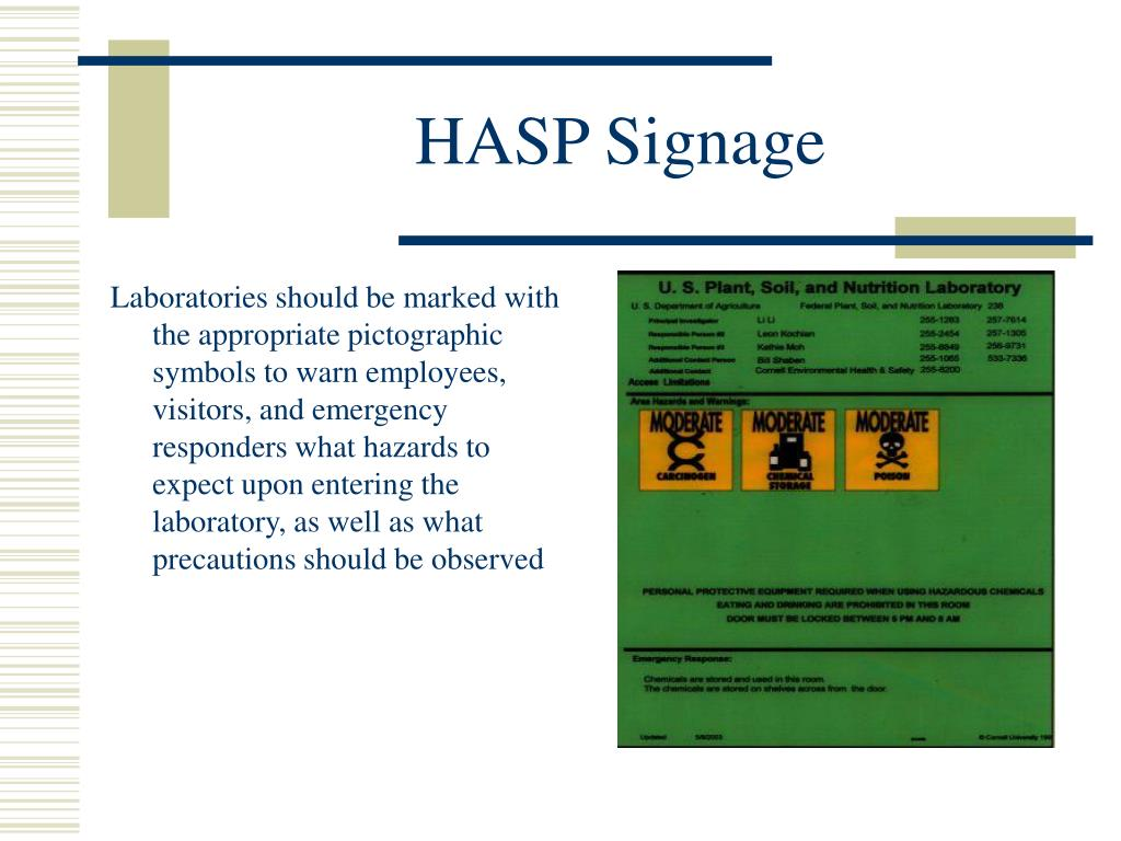 HASP Signage