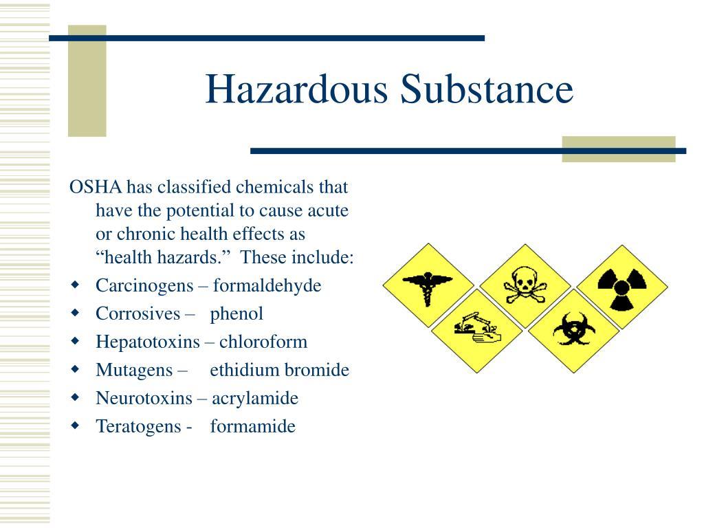 Hazardous Substance