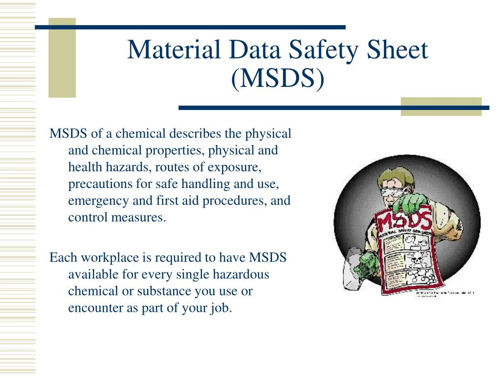 Material Data Safety Sheet (MSDS)