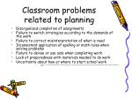 classroom problems related to planning