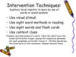 intervention techniques auditory vocal inability to learn by use of words or sound symbols