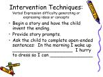 intervention techniques verbal expression difficulty generating or expressing ideas or concepts