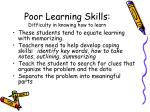 poor learning skills difficulty in knowing how to learn17