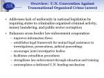 overview u n convention against transnational organised crime 200016