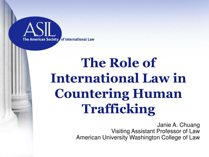 The role of international law in countering human trafficking l.jpg