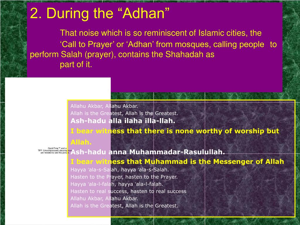 "2. During the ""Adhan"""