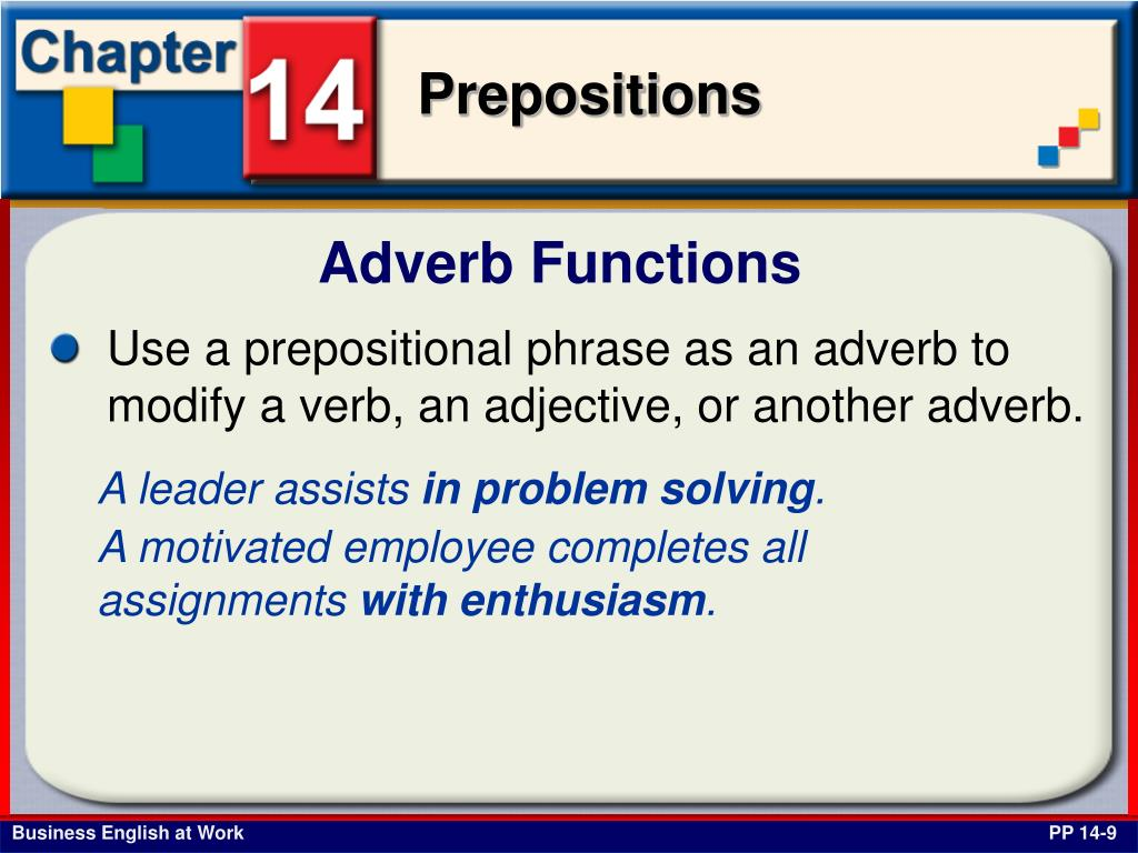 Adverb Functions