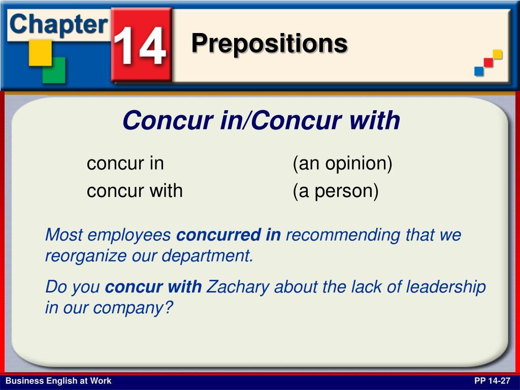Concur in/Concur with