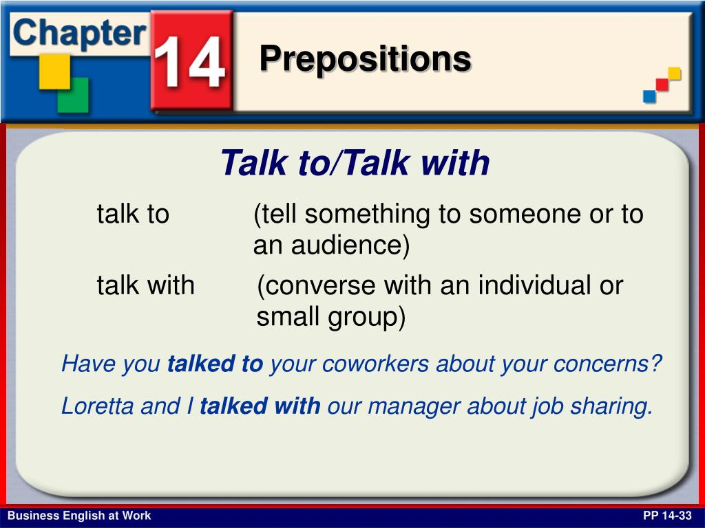 Talk to/Talk with