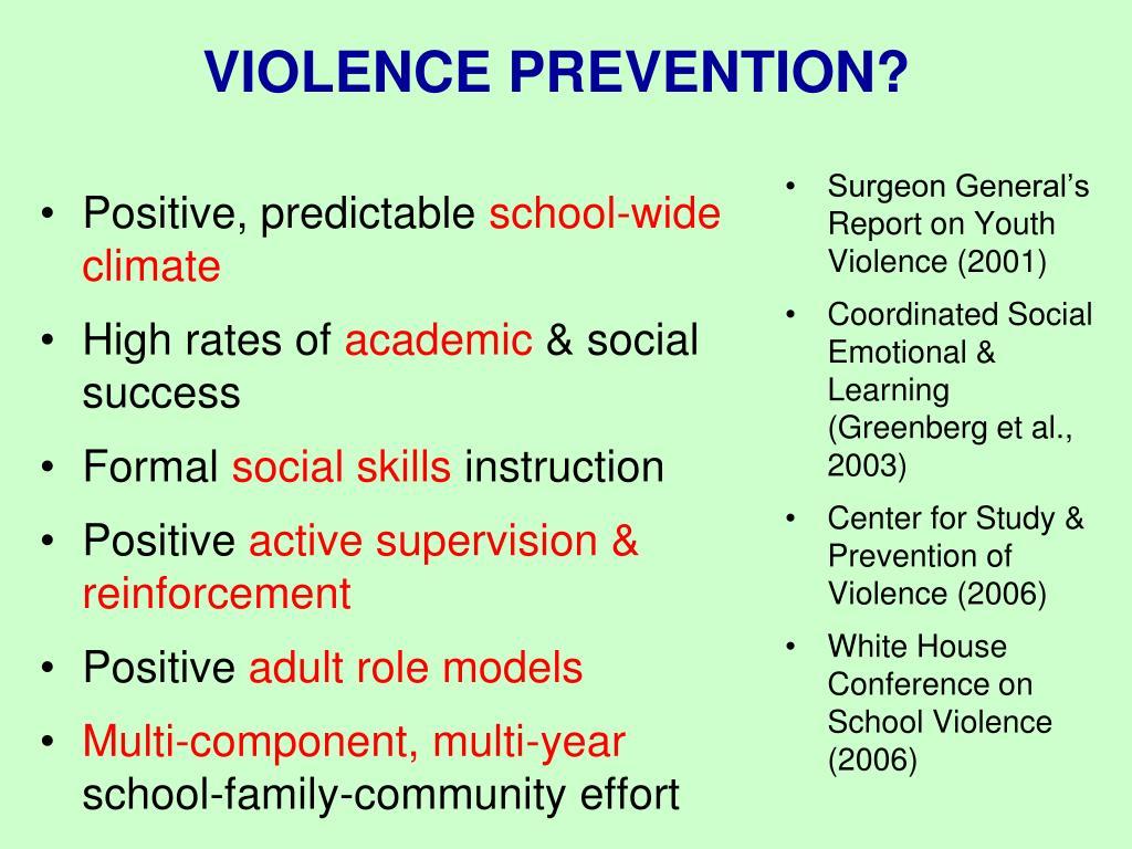 VIOLENCE PREVENTION?