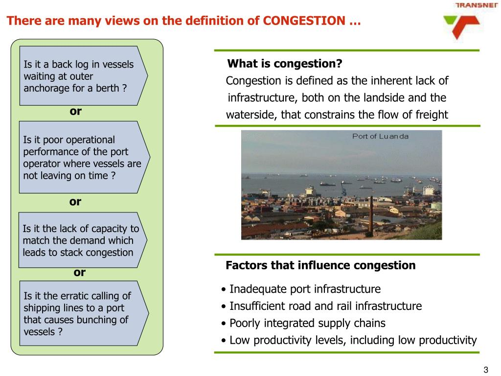 There are many views on the definition of CONGESTION …