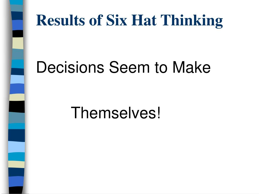 Results of Six Hat Thinking