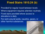 fixed stairs 1910 24 b