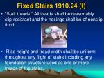 fixed stairs 1910 24 f