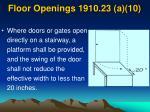 floor openings 1910 23 a 10