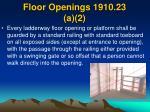 floor openings 1910 23 a 2