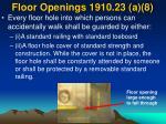 floor openings 1910 23 a 8