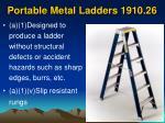 portable metal ladders 1910 26