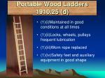 portable wood ladders 1910 25 d