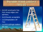 portable wood ladders 1910 25