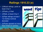 railings 1910 23 e