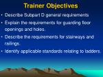 trainer objectives