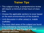trainer tips