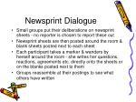 newsprint dialogue