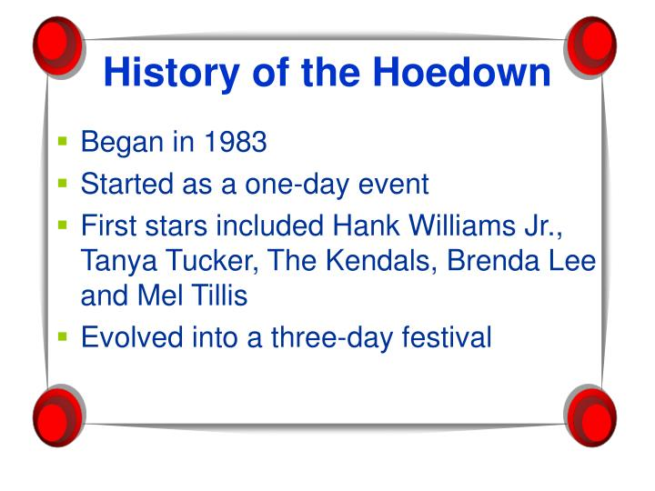 History of the hoedown