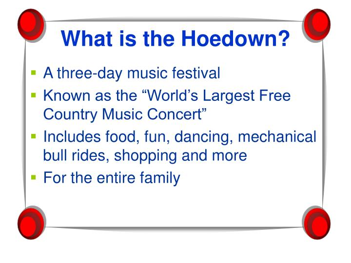 What is the hoedown l.jpg
