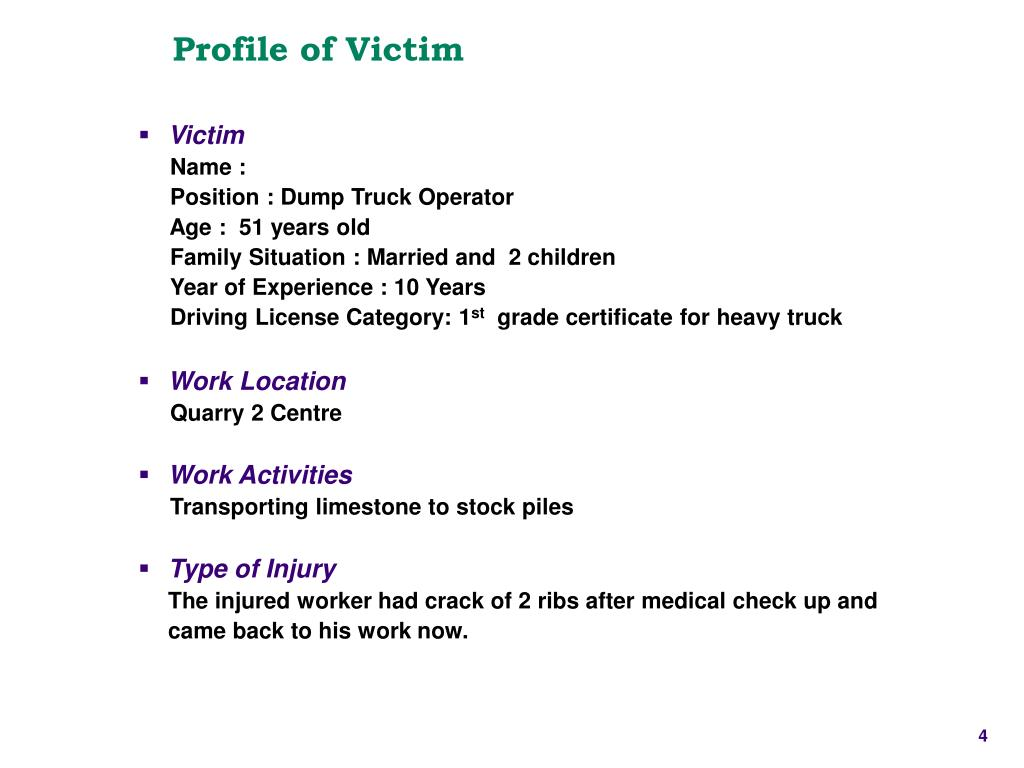 Profile of Victim