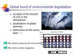global trend of environmental degradation