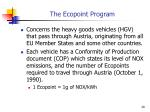 the ecopoint program