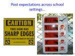 post expectations across school settings