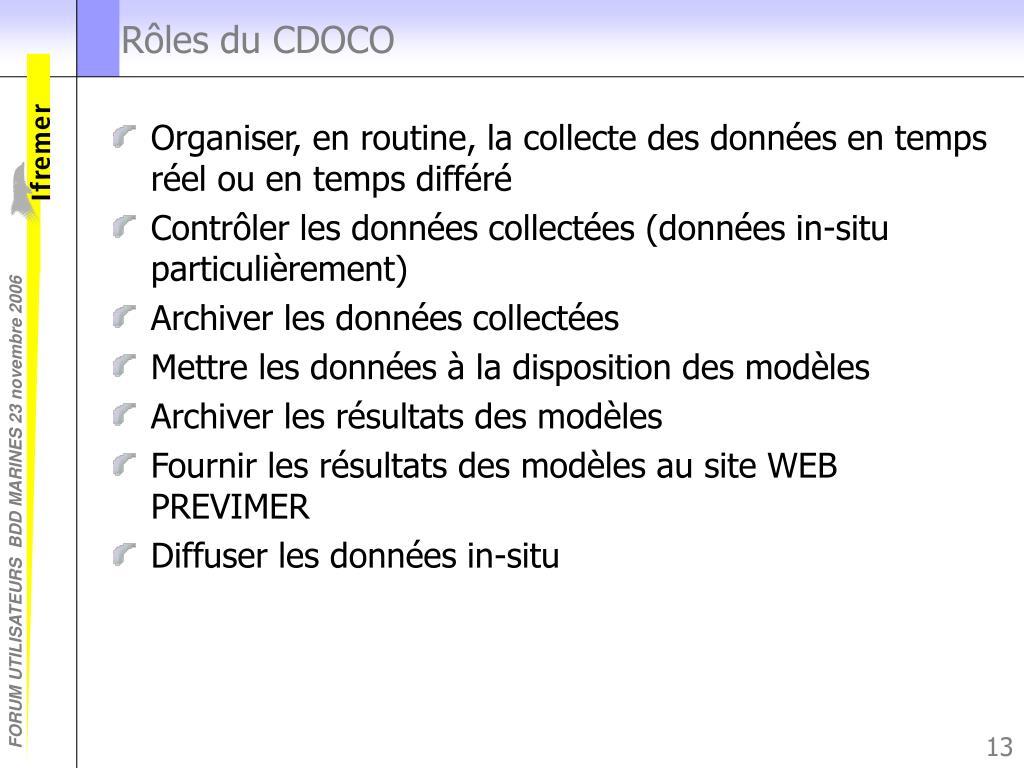 Rôles du CDOCO