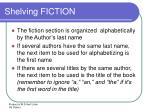 shelving fiction