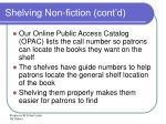 shelving non fiction cont d