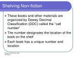 shelving non fiction