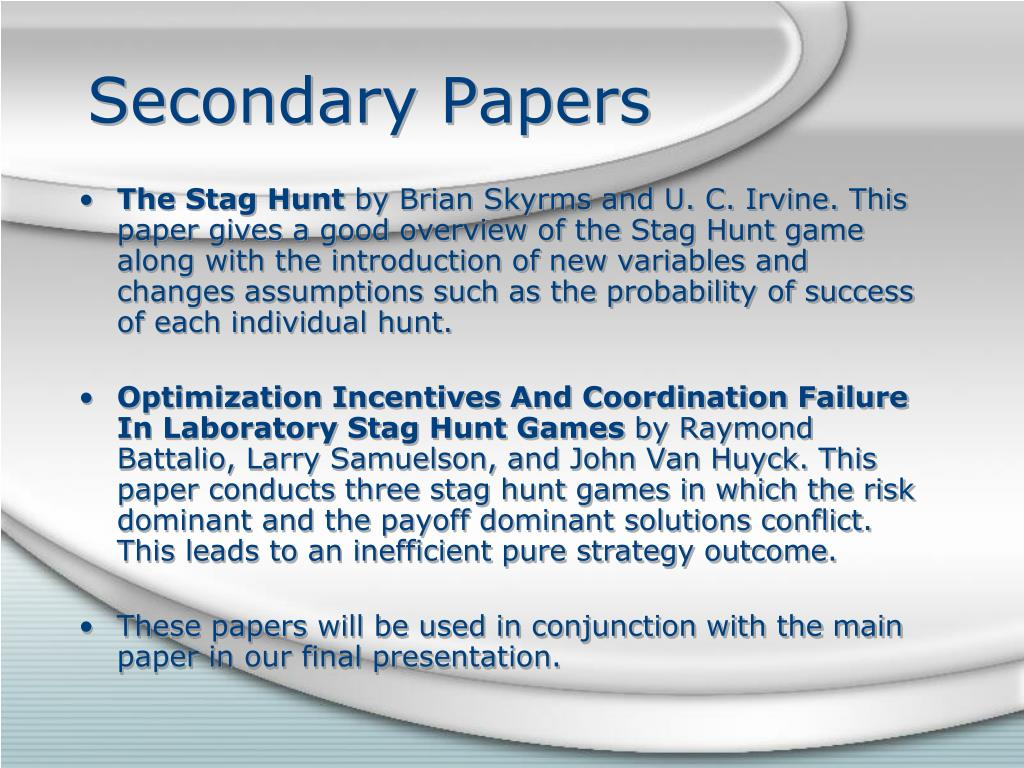 Secondary Papers