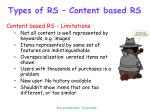 types of rs content based rs6