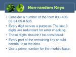 non random keys