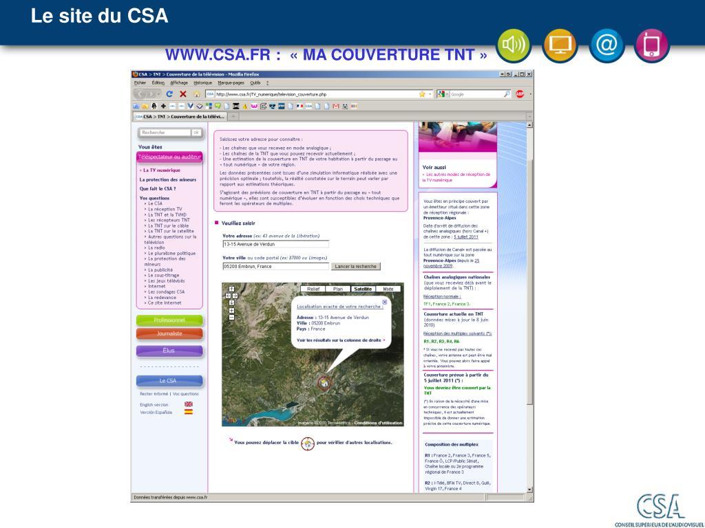 Le site du CSA