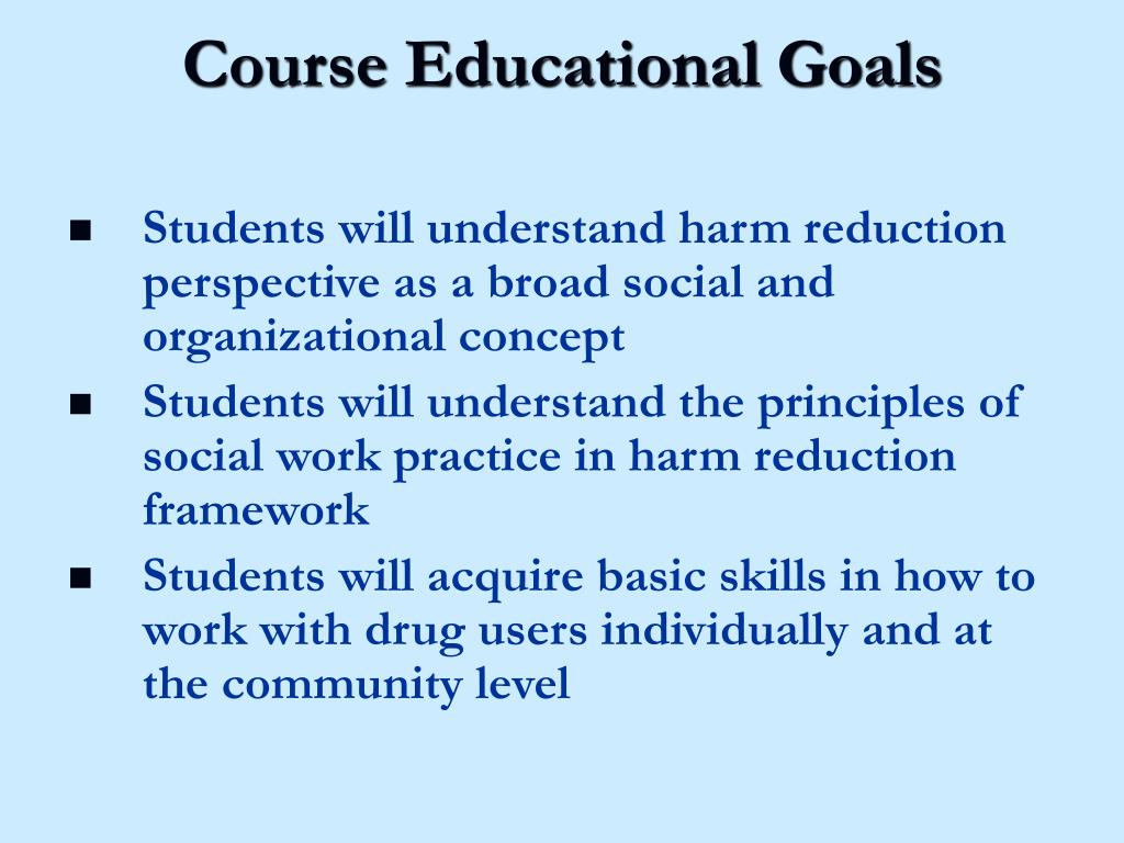Course Educational Goals