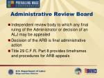 administrative review board