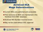 archived sca wage determinations