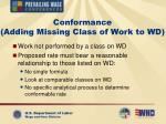 conformance adding missing class of work to wd
